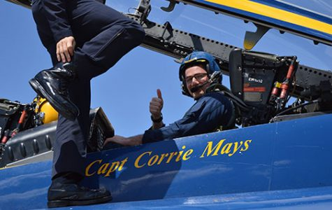 Former North Star administrator Mike Gillotti prepares for his VIP flight with the Blue Angels in May 2016. Gillotti is now the principal at Southwest HIgh School. Courtesy Photo