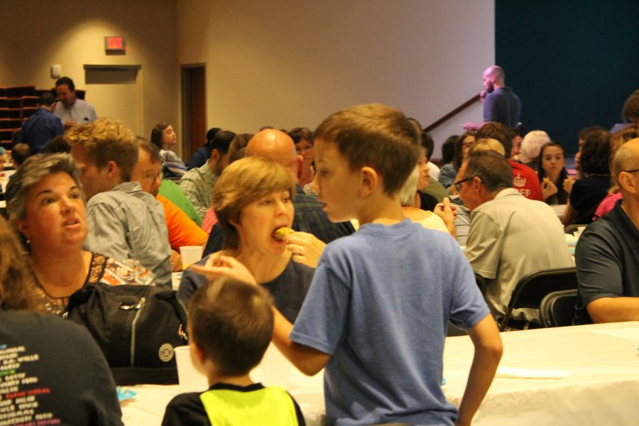 Lincoln residents gather at North Pointe Community Church in August to learn more about Yezidi culture. North Star has many Yezidi students. Photo by Nibras Khudaida/GG Staff